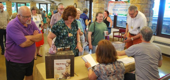 Book signing of personal memoir